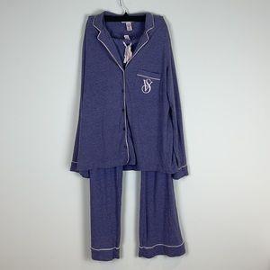 Victoria Secret blue pajama set size medium